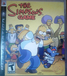 Juego Ps3, The Simpsons Game Playstation 3,impecable