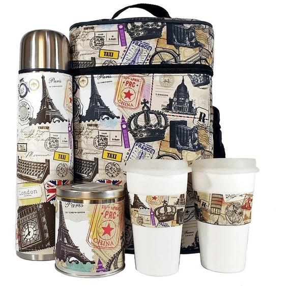 Equipo De Cafe Te Viajes Set Kit Cuero Completo Cafetero