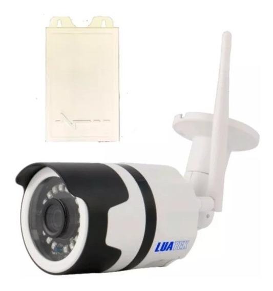 Camera Ip Wifi Cartão Sd 720p Blindada Aprova Dagua Android