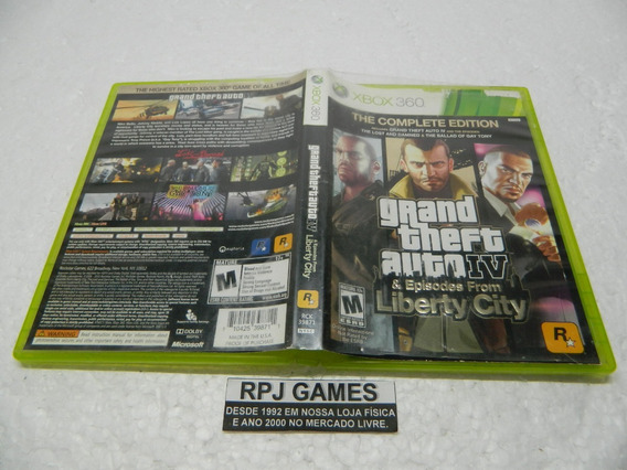 Gta 4 Liberty City Original Midia Fisica Completa Xbox 360