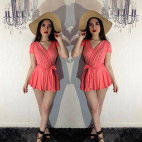Jumper Dama, Coral, Short, Envio Gratis 208,berry Dress