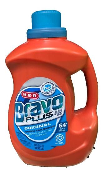 Detergente De Telas Americano 64 Cargas 2.95l Bravo Plus He