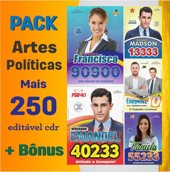 Pack Campanha Política Editável - Várias Artes Prontas!