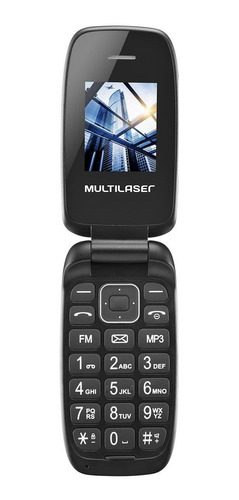 Celular Flip Quadriband Multilaser P9022 Up Dual Chip Preto