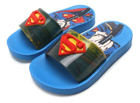 Chinelo Slide Infantil Menino Super Heróis Liga Da Justiça