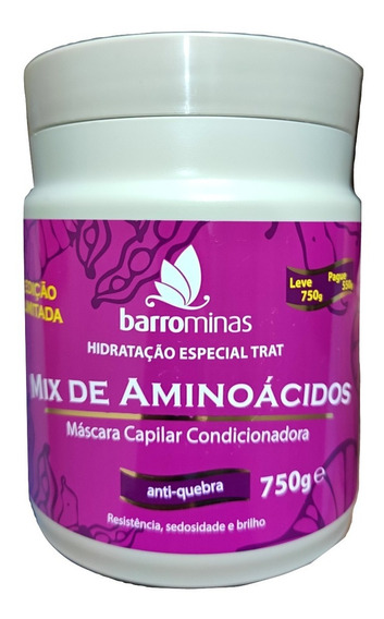 Barrominas Mix Aminoácidos Mascara Versao Especial 750g