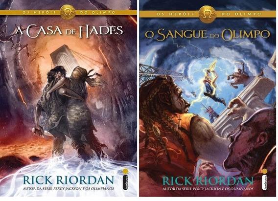 A Casa De Hades + O Sangue Do Olimpo 2 Livros Rick Riordan