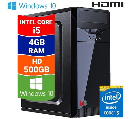 Imagem 1 de 7 de Cpu Pc Torre Intel Core I5 4gb Hd 500gb Windows 10 Hdmi