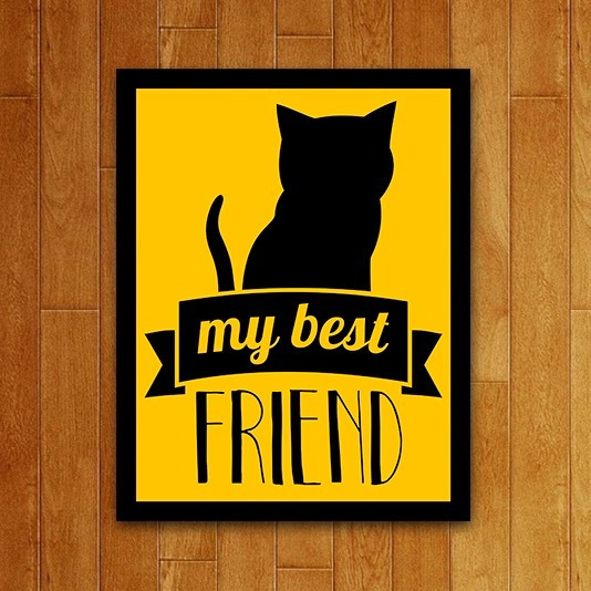 Placa Quadro Decorativo Pet - My Best Friends Cat