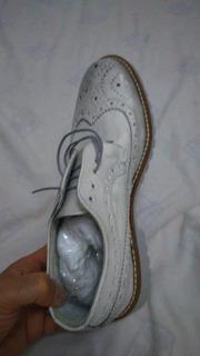 Zapato En Piel Italiano Talla 8