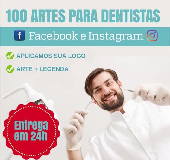 100 Posts Para Dentistas - Facebook E Instagram