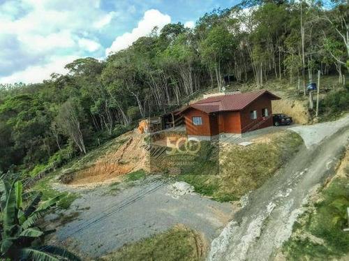 Chácara Com Casa De Campo, Ótima Localização E Acesso Pavimentado Em Santo Amaro Da Imperatriz, Sc - Ch0005