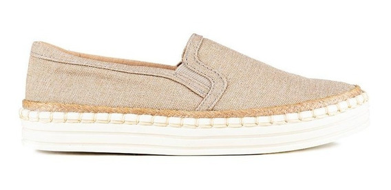 Zapatos Slip On Plataforma Khaki - Soda