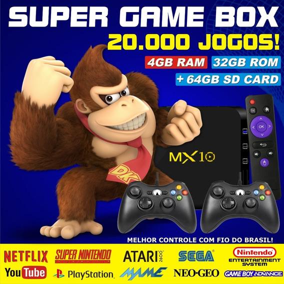 Super Game Box - Video Game Retro Com Jogos Clássicos - 64gb