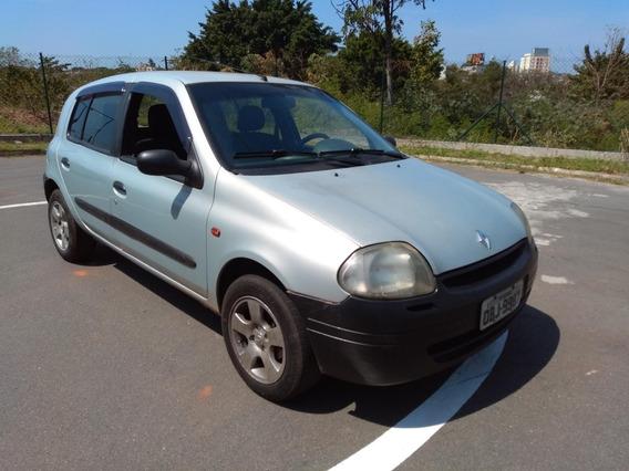 Clio Rl 1.0 8v Economico Faz 15km Com Litro Gasolina - 2000