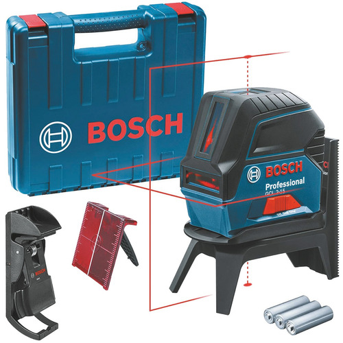 Imagem 1 de 10 de Nível À Laser De Linhas Gcl 2-15 Bosch + Maleta + Suporte