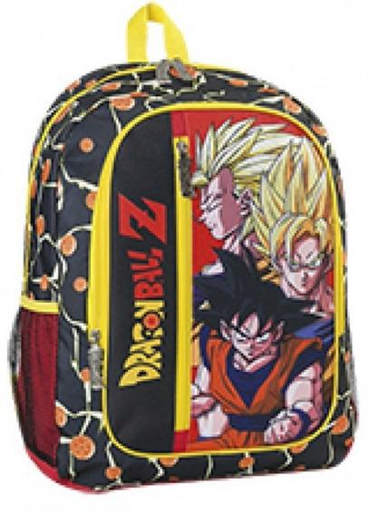 Mochila Escolar Dragon Ball Z Espalda 17 Pulgadas !!!