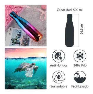 Termo Botella De Acero Inoxidable Tornasol Tricolor (e) Nuevo De 500ml Di No Al Pet!!