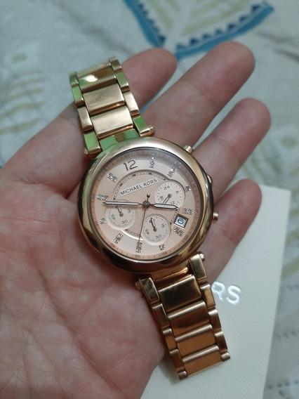 Reloj Mk Rose Gold Usado Excelente Estado