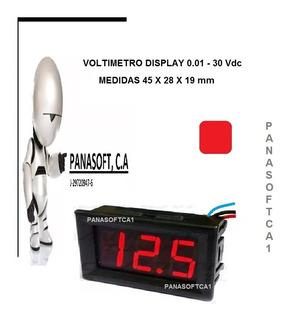 Medidor Voltímetro Digital Led Display Carro Moto 12v 24v Ro