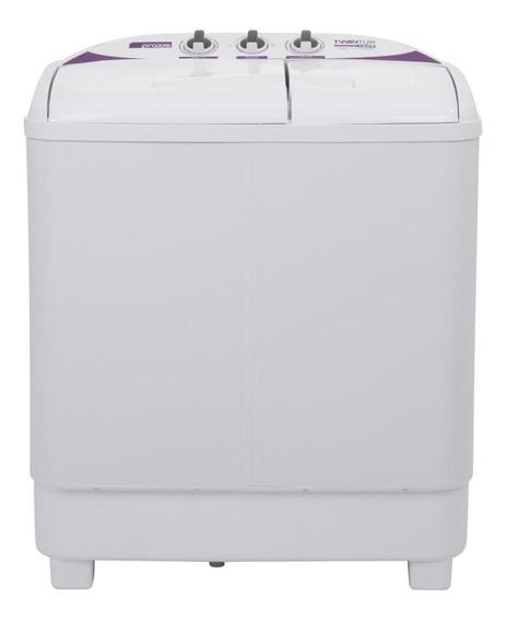 Lavadora de roupas semi-automática Praxis Twin Tub branca 10kg 220V