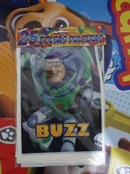 Bolsa Dulcero Buzz Woody Toy Story 25 Bolsas Fiesta
