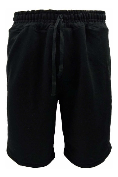 Shorts Moletom Masculino Bermuda Moletinho Kit C/4 Pçs