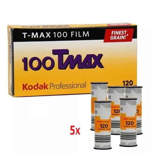 Filme Fotográfico Preto E Branco Kodak T-max 100 - 5 Unid