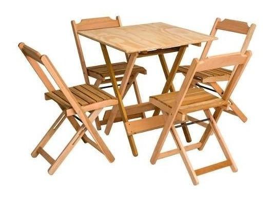 Conjunto Mesa + 4 Cadeiras Dobraveis Tramontina-por Maquisul