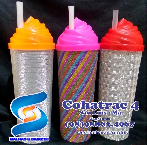 100 Long Drink 350ml Multi Brilho C/ Tampa E Canudo