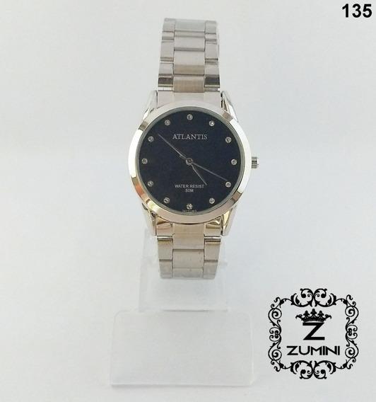 Relógio Feminino Prateado Feminino Atlantis