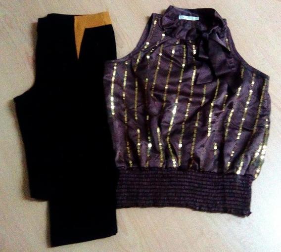 Blusa Talla M/l + Pantalón De Vestir Negro Talla M (13$)