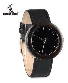 Relógio Feminino Bobo Bird I30 Bambu Caixa Aço Ebano Top