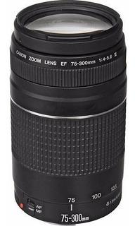 Lente Canon Telephoto Ef 75-300mm F/4-5.6 Iii Con Detalle