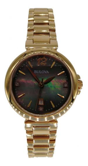Relógio Bulova Feminino Dourado Calendário