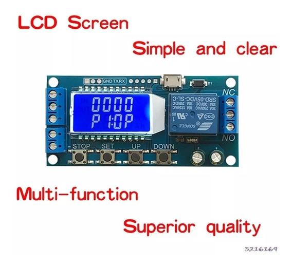 Timer Lcd Temporizador Relé 5v-30v Ajustável 9999 Minutos
