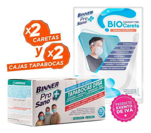 Imagen 1 de 1 de Promo 2 Cajas De Tapabocas D95a Para Uso Diario No Médico