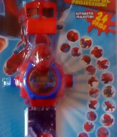 Kit 5 Relógios Digital Infantil Homem Aranha Projetor Imagem