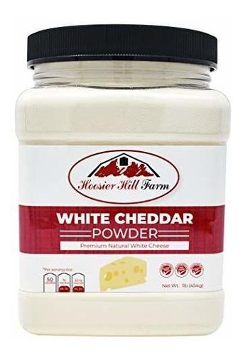 Polvo De Queso Cheddar Blanco Premium De Hoosier Hill Farm,