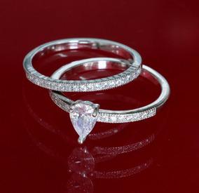 Anel Com Aparador Feminino Noiva Compromisso Prata Pura 925