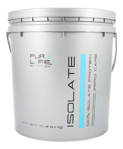 Pur3 L1fe Proteina   100% Whey Protein Isolate