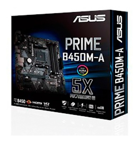 Motherboard Asus Prime B450m-a Ryzen Am4 Ddr4 Hdmi Ssd M.2