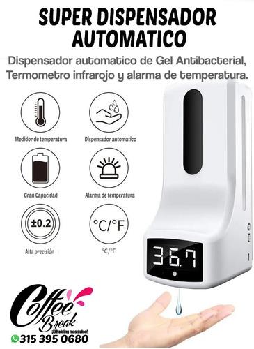 Dispensador Automático Gel Antibacterial Control Temperatura