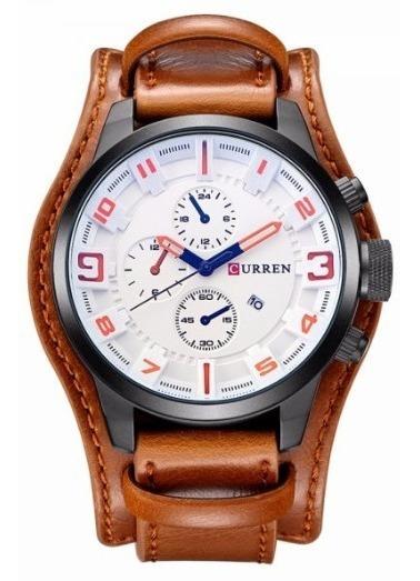 Relógio Couro Curren 100% Original Na Caixa!