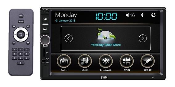 Central Multimídia Mp5 Player Automotivo 2 Din Usb Mp3 Bluetooth Hd 7 Polegadas Dvd Fm Controle Radio 2x 60w Potente Rca