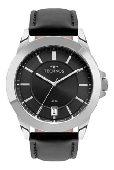 Relógio Technos Masculino 2415de/0p Couro Preto Oferta