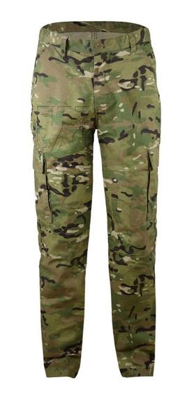 Calça Militar Camuflada Tática 6 Bolsos Reforçada Rip Stop