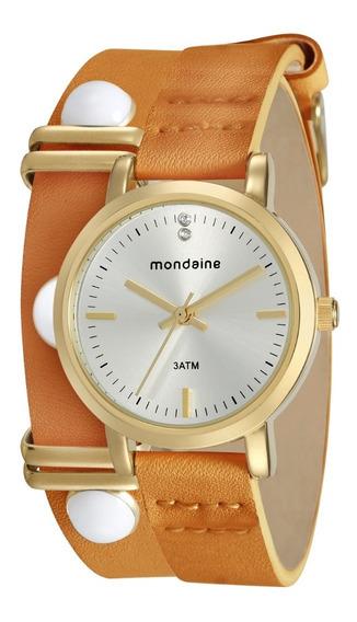 Relógio Feminino Mondaine Couro 76644lpmvdh1 Garantia E Nfe