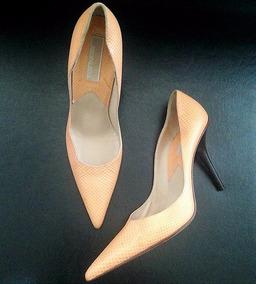 Zapatos Cuero Damasco M. Kors Cuero Italiano Oferta!!!