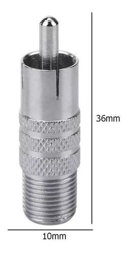 Adaptador / Conector Entrada Macho A Coaxial Hembra